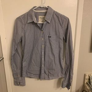 Abercrombie stripped button up short